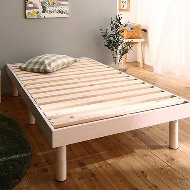 天然木ショート丈すのこベッド