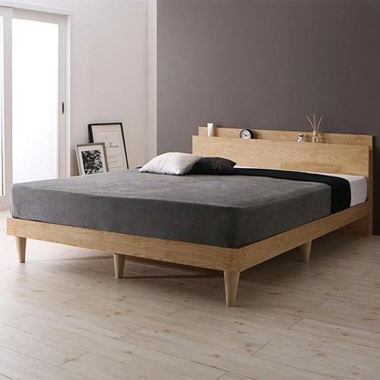 棚・コンセント付きデザインすのこベッド