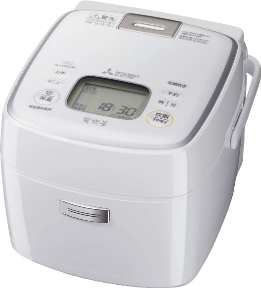 3.5合 IH炊飯器 備長炭炭炊釜 NJ-SE069-W