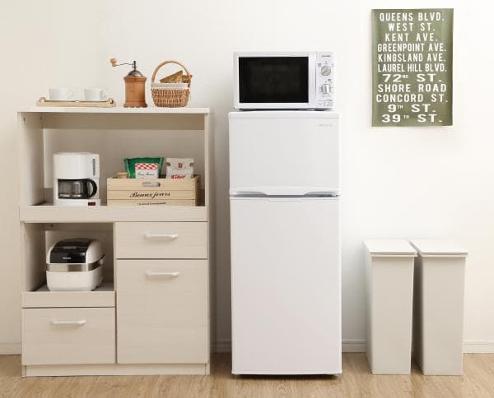 ノンフロン冷凍冷蔵庫 118LAF118-W